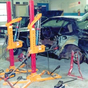 at executive auto body we do state of the art frame unibody repairs we feature three different pulling systems we use buske collision floor posts with